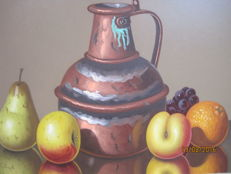 Gabriele Golinelli (1941- ) Rame e Frutta (Copper and Fruits)