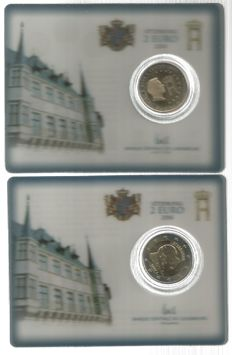 Luxembourg - 2 euro in coin cards 2004 and 2006