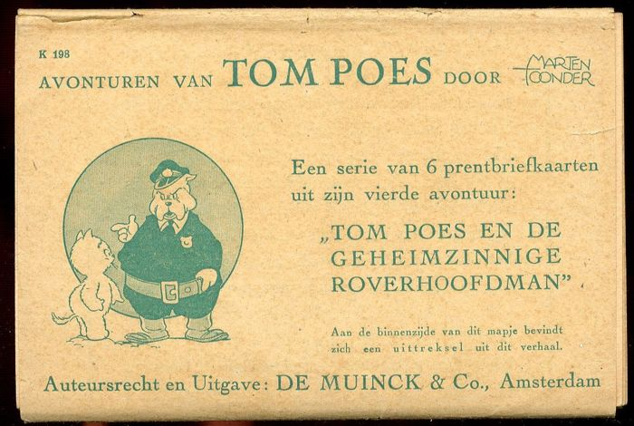 Tom Poes - 4th set of picture postcards - Tom Poes en de geheimzinnige roverhoofdman - (1942)