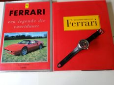 Set of 3 - Scuderia Ferrari Men's wristwatch - Ferrari Collection: 2 books