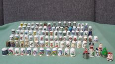 Collection of 104 thimbles