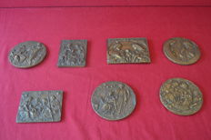 7 Christmas bronze medals - 1980`s - Portugal