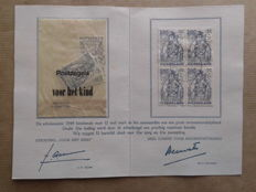 Netherlands 1949/1959 – Small collection of 'Kinderbedankkaarten' (Thank you card for buying stamps to benefit children)