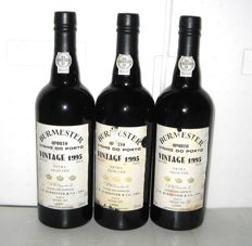 1995 Burmester Vintage Port, Bottled in 1997 - 3 bottles (75cl)