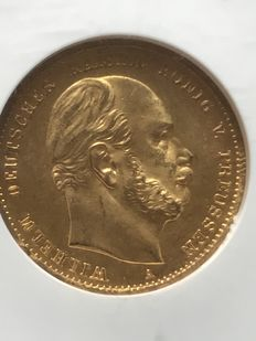 Germany, Prussia - 10 Mark 1872 A (Berlin) - Gold