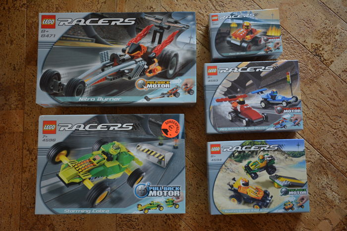 Racers - 4582 + 4593 + 4594 + 4596 + 8471   -   Red Bullet + Zero Hurricane and Red Blizzard + Maverick Sprinter and Hot Arrow + Storming Cobra + Nitro Burner