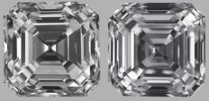 Pair of  Asscher  Brilliants  1.01ct total   DVS1 - DVVS1  GIA Original image 10EX - Serial# WD2129-WD2152