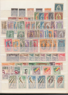 French Colonies 1912/1950 - Lot of stamps.