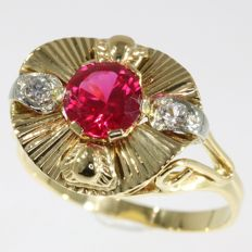 Fifties gold cocktail ring