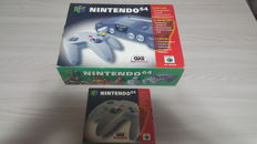 Nintendo 64 boxed and controller boxed