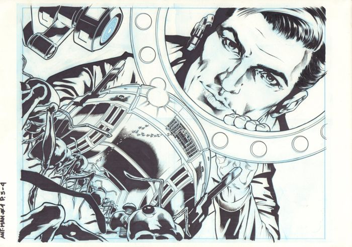 Original Art Pages By Miguel Sepulveda And Bit - Marvel Comics - Ant-Man : Prelude #1 - Pages 3 & 4 - Double Splash - (2015)
