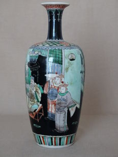 Famille noir Vase - China - beginning of 19th Century