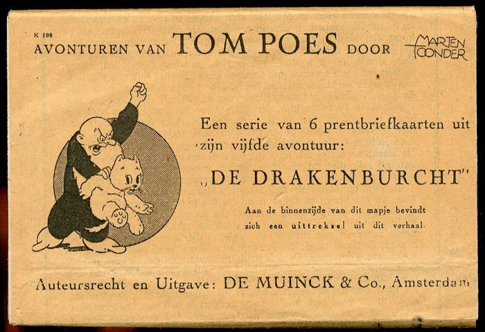 Tom Puss - 5th set of picture postcards - Tom Poes en de drakenburcht - (1942)