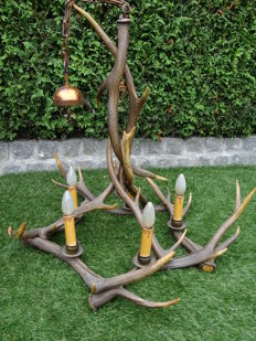 Deer antler chandelier – Germany- circa 1970