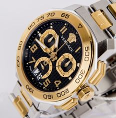 Versace - model: Dylos two-tone VQC100016 - Swiss made men's wrist chronograph - New - Never worn