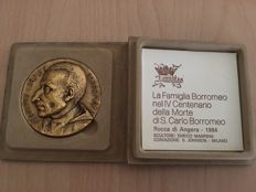 Commemorative medal of Saint Charles Borromeo - gold-plated - Italy - 1984