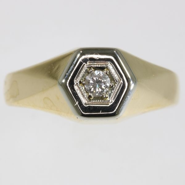 Vintage gentleman's Diamond ring from the fifties