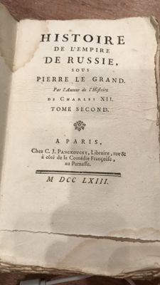 Voltaire - Histoire de l'Empire de Russie sous Pierre le Grand. Second volume: