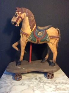 Small Fairground Horse on Wheels