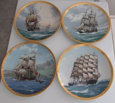 4 collection plates from Franklin Mint 1986 signed Derek G.M. Gardner, first limited edition