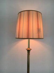 Large free-standing Dijkstra, empire style, brass lamp