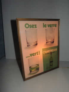 France; Neon sign - Chartreuse - 'Osez le verre...vert' - 1968