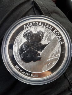 "Australia - 10 dollars 2013, ""Koala"" - 10 oz of silver"