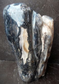 Decoration: sculpture made from petrified wood - 37 cm - 10.2 kg