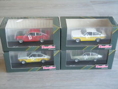 Detail Cars Platinum - Scale 1/43 - Lot with 4x Opel Kadett C Coupe