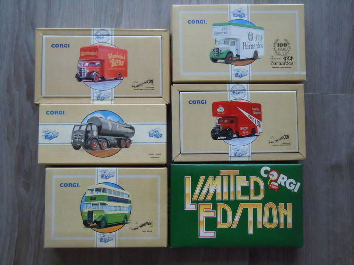Corgi - Scale 1/50 - Lot with 6 Different Trucks
