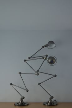 Jean-Louis Domecq for Jieldé - two identical six-armed floor lamps