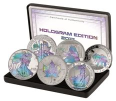 World - Silver Selection Hologram Set 2017 - 6 x 1 oz silver