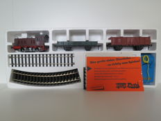 Gauge 0 - Pola Maxi - 0405 - Starter set with a diesel locomotive, 2 wagons, rail oval, and transformer