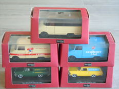 Starline - Scale 1/43 - Lot with 5 x Opel Rekord P2 & Blitz