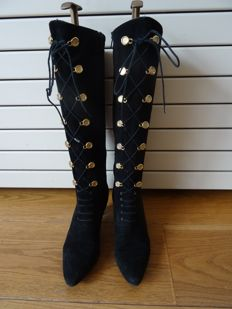 70s Bally Suede riding boots