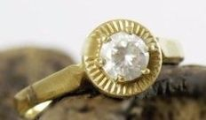 Gold Ring 18kt with cubic zicornia