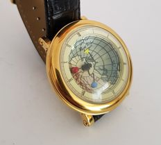 Graf von Monte Wehro Livingston world globe watch - men's wristwatch - 2010 unworn