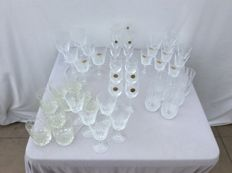 47-piece Cristal D'Arques cut crystal glasses