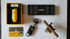 "Cohiba ""Snake Mouth "" Yellow Lighter and Sigar Collection"