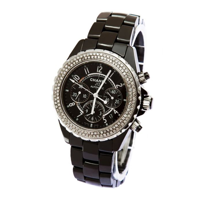 Chanel - Chanel J12 Diamond Ceramic Chronograph - J12 - Men - 2000-2010