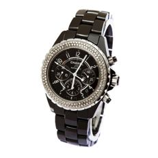 Chanel - Chanel J12 Diamond Ceramic Chronograph - J12 - Heren - 2000-2010