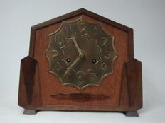 Amsterdam School mantel clock with 8-day movement