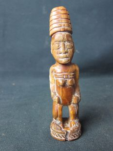 Antique African ivory figurine - YOMBE, BACONGO - D.R. Congo