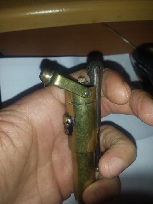 Art of the trench. WW2 brass lighter