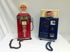 Pepsi Cola and petrol pump telephone