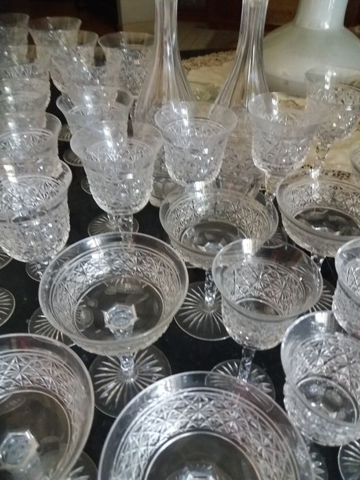 Comprehensive cut crystal glass service, second half of the 20th century