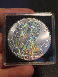 USA - US Mint - American silver eagle - 1 oz of 999 silver - hologram edition 2017 - edition of only 5000 pieces