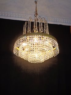 Crystal chandelier - 7 light points - in good condition