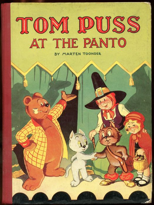 "Tom Puss & Sir Bumble - ""Tom Puss at the Panto"" - English language picture book - hardcover - (1950)"
