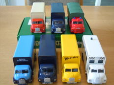Corgi - Scale 1/50 - Lot with 7 Big Bedford Trucks
